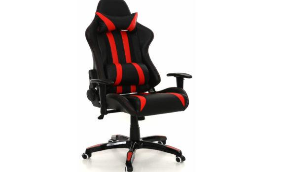 Fotel czerwony gamingowy