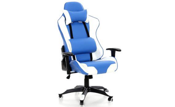 Fotel niebieski sportowy